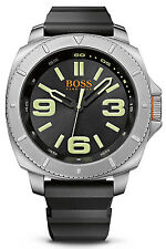 Hugo Boss 1513107 Sao Paulo Black Dial Silicone Strap Men's Watch