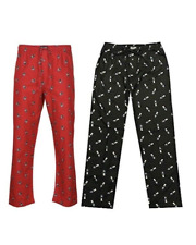 Polo Ralph Lauren Men's Bear Flannel Sleep Pajamas Pants Bottoms Red / Black
