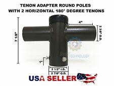 Adapter Round Pole 2 Horizontal 180°Tenon for Shoe Box Street Pole Parking Light