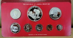 1979 Republic Of Liberia Proof Set 8 Coin Set