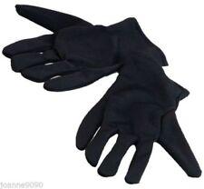 Guantes de color principal negro de poliéster para disfraces y ropa de época