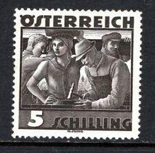 (099)     Austria 1934-38 Costumes 5s Brown Black (Builders) SG737 LM/Mint