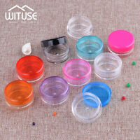Mini 3g/5g Jar Round Pots Small Plastic Sample Containers Cosmetic Powders Box
