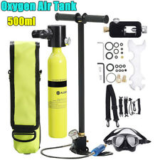Mini Scuba Tank Diving Oxygen Reserve + Pressure Pump Dive Equipment 3000Psi Us