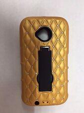 Motorola Moto E2 (2nd Gen)  Hybrid Kickstand Case-Diamond Gold