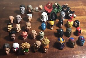 "6"" Action Figure Custom Fodder Various Heads Marvel Legends Neca"