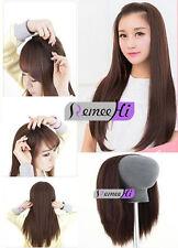 "3/4 Half Wig Silk Straight 100% Brazilian Remy human hair 15""-22"" 140g-220g"