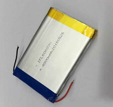 2 PCS 3.7V 4000mAH 606090 LiPo Li-ion Polymer Rechargeable Battery with Cable