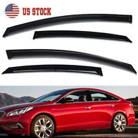 For 2015-2019 Hyundai Sonata Smoke Window Visors Sun Rain Wind Guards Vent Shade