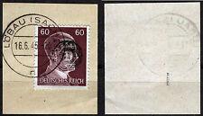 Löbau 20 Briefstück, 60 Pf. Hitler mit Aufdruck, gepr. Zierer BPP