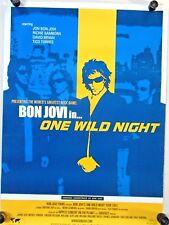 """Bon Jovi  / 2001 / One Wild Night Tour Poster / Exc. new cond. / 25 x 35 1/2"""""""