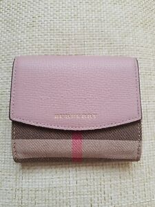 Genuine Ladies Burberry Checked Wallet/purse