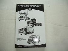 NEW Mack Diesel Trucks Maintenance & Lubrication Service Shop Manual TS49408 '08