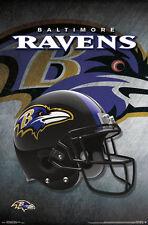 New BALTIMORE RAVENS Official Team Logo Helmet Design NFL WALL POSTER