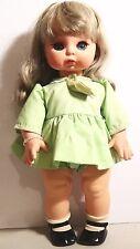 """Vintage Furga Doll Long Eyelashes Italy 18"""" Tall Toddler Doll"""
