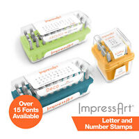 ImpressArt Letter and Number Metal Stamps for Custom Stamped Jewellery/Metalwork