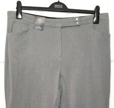 M&S Marks 18 Reg Med Ladies Pale Grey 2Way Stretch Slim Boot Leg Trousers BNWT