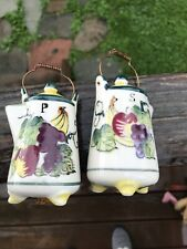 Adoreable Coffee Pot Salt & Pepper Shakers. Hand Painted