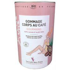 Gommage corps gourmand au café cacao aloe vera bio secrets des fées 200g