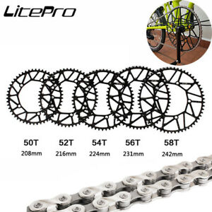 Litepro 130BCD 50t 52t 54t 56t 58t Chainring Chain Bolts Narrow Wide Chainwheel