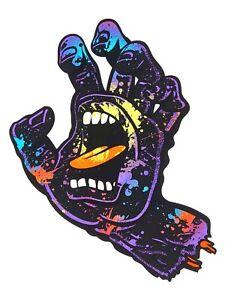 "Santa Cruz Screaming Hand Splatter Skateboard Sticker Multi 6"""
