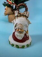 Vintage Ceramic Santa Bell Music Box