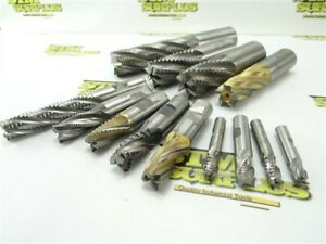 "13 PC HSS+ COBALT ROUGHING END MILLS 3/8"" TO 1-1/4"" OSG USA PUTNAM"