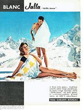 e7a2e87db82 PUBLICITE ADVERTISING 056 1962 Jalla draps de bain serviettes Griffe Jaune