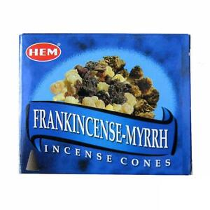 Frankincense Myrrh Incense Cones for Aromatherapy, Smudging, Cleansing, Purifies
