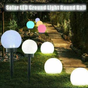 2/4 Set LED Leuchten Garten Beleuchtung Außen Solar Kugel Lampen Terrassen Licht