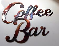 "Coffee Bar Metal Wall Art  20"" wide"
