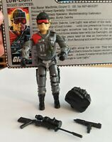 GI Joe Vintage ARAH 1986 Low Light 99% complete Great Condition with Card