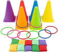 Bags Play Set Cones Toss Includes Equipment Bean Ring Soft New Uk