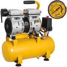 9 Litre Silent Air Compressor Oil Free 600W 8Bar 4CFM Low Noise 64dB Portable