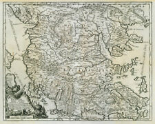 Macedonia, Epiro, Livadia, Albania e Ianna. North Greece ROSSI/CANTELLI 1684 map