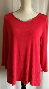 Travelers by Chico Woman's Size 1 Red Top