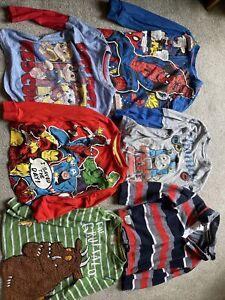 6 X Boys 3-4 Year Old T-shirts Marvel Gruffalo Thomas The Tank Engine (33)