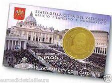 Coincard 0,50 euros Vatican 2015 n°6 - Effigie du Pape François - Qualité BU