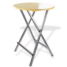 Stehtisch Klapptisch Bistrotisch Bartisch Tisch rund klappbar mit Holzplatte