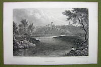 GERMANY Trandelburg Town & Castle - 1820s Copper Engraving by Cpt. Batty