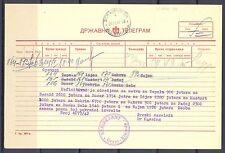 GERMANY OCCUPATION YUGOSLAVIA WW II TELEGRAM  1942 - GROSS KIKINDA  -
