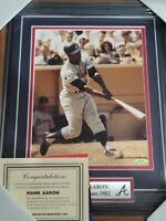 Hank Aaron  Picture 8x10  Autographed Signed Framed Photo Mounted Memories COA