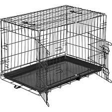 Cage pour chien Box de transport boîte cage parc à chiots canine 76 x 47 x 51 cm