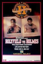 Original Vintage Evander Holyfield vs. Larry Holmes Boxing Fight Poster