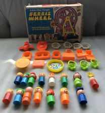 Little play people ferris wheel, furniture, people, vintage 1970's, Knockoffs