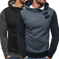 Men Casual Fleece Hooded  Zip Up Sweatshirt Winter Warm Gym Pullover Sport Coat