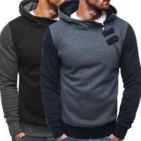 Men Warm Thick Plain Hoodie Pullover Coat Winter Sport Sweatshirt Jacket Sweater
