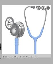 BNIB 3M Littmann Classic III Monitoring Stethoscope, Ceil Blue - NHS colour rare