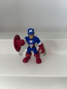 "Captain America 2"" inch Mini Action Figure Toy Marvel Hasbro (2010, C-3046a)"