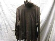 Vintage Flying Colors L Large Brown Turtleneck Shirt 60% Cotton 40% Polyester